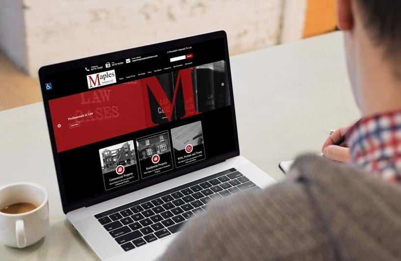 New website launched by PSP in August for Maples Solicitors Image 5